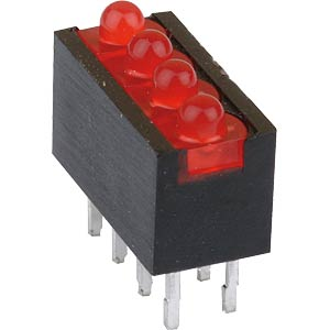 4-fach LED-Array, rot, Ø 2mm, stehend MENTOR RTZ2040R