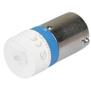 Reflektor-LED, BA9s, blau, 12 V, 250 mcd, Ø9,7 mm, 160° SIGNAL CONSTRUCT MWCB22429