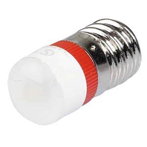 Reflektor-LED, Sockel E10, 24V AC/DC, rot SIGNAL CONSTRUCT MWCE22049