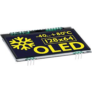 Grafik-OLED, 128x64, 2,9 Zoll, gelb, inkl. Schutzglas ELECTRONIC ASSEMBLY EA OLEDL128-6GGA