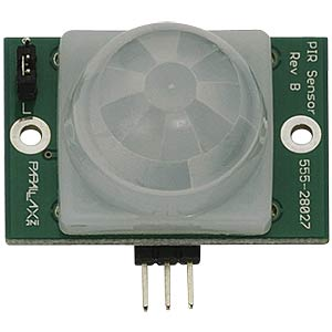 PIR sensor module, up to 10 m, 3 - 6 V PARRALAX 555-28027