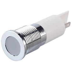 Signalleuchten LED, 24V DC, 14mm, FASTON, ws/BrC APEM Q14F1CXXW24E
