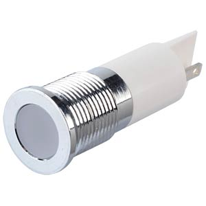 LED-Signalleuchte, weiß, 24 V, Ø 14 mm, bündig, FASTON APEM Q14F1CXXW24E