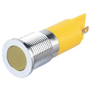 Signalleuchten LED, 12V DC, 14mm, FASTON, ge/BrC APEM Q14F1CXXY12E