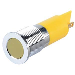 Signalleuchten LED, 220V AC, 14mm, FASTON, ge/BrC APEM Q14F1CXXY220E