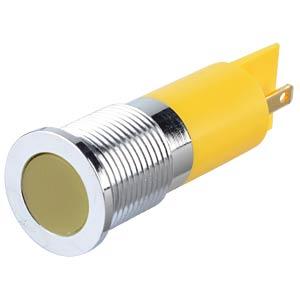 LED-Signalleuchte, gelb, 24 V, Ø 14 mm, bündig, FASTON APEM Q14F1CXXY24E