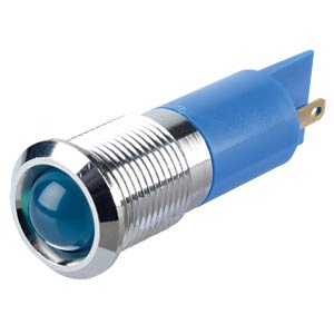 Indicator LED, 24 V DC, 14 mm, FASTON, blue/BrC APEM Q14P1CXXB24E