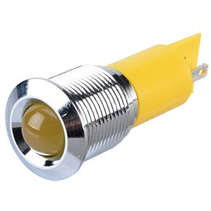 Signalleuchten LED, 220V AC, 16mm, FASTON, ge/BrC APEM Q16P1CXXY220E