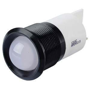 Signalleuchten LED, 12V AC/DC, 22mm, FASTON, ws/BlC APEM Q22P1BXXW12AE