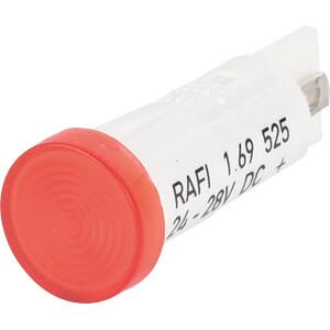 LED-Signalleuchte, rot, 24 - 28 V, Ø 10 mm, rund, FASTON RAFI 1.69.525.205/1300