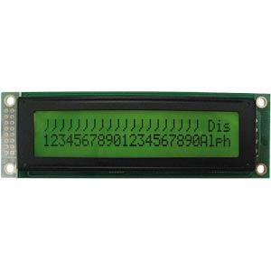 LCD-Modul, 2x24, H:5,6mm, ge/gn, m.Bel. DISPLAY ELEKTRONIK DEM24251SYH-PY