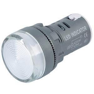 LED-Signallampe, weiß, 24 V, Ø 29 mm, rund, schraubbar RND COMPONENTS RND 210-00043