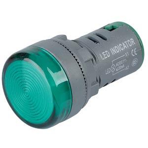 LED Indicator, 110V, srew, 21,5mm, green RND COMPONENTS RND 210-00044