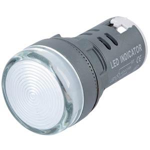 LED-Signallampen, 110V, srew, 21,5mm, weiß RND COMPONENTS RND 210-00047