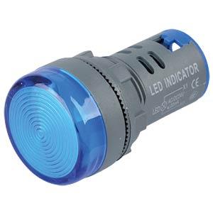 LED-Signallampe, blau, 24 V, Ø 29 mm, rund, schraubbar RND COMPONENTS RND 210-00048
