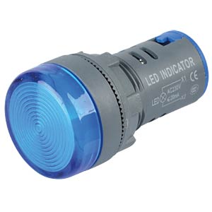 LED Indicator, 230V, srew, 21,5mm, blue RND COMPONENTS RND 210-00052