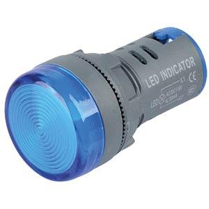 LED Indicator, 110V, srew, 21,5mm, blue RND COMPONENTS RND 210-00056