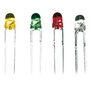 LED, 3 mm, ultra-bright, coloured, transparent, green KINGBRIGHT L-934GT
