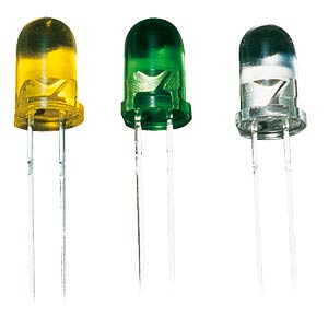 LED, 5mm, ultra-bright, coloured, transparent, yellow KINGBRIGHT L-53YT