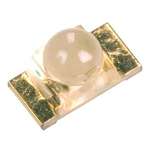 Yellow SMD LED with dome lens, 300 mcd KINGBRIGHT KPTD-3216SYC
