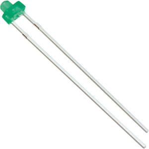 Mini-LED, 1,8 mm, bedrahtet, grün, 20 mcd, 40° VISHAY TLUG 2401