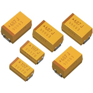 SMD-Tantal Kondensator, 10 µF, 25 V AVX TAJD106K025RNJ