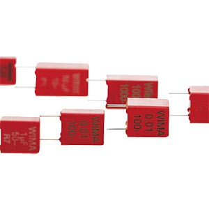 Folienkondensator, 100pF, 630V, RM5 WIMA FKP2J001001D00HSSD