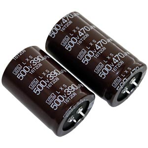 Snap-in electrolytic capacitor, 22.0 x 45 mm, 180 µF, 450 V EUROPE CHEMI-CON ELXS451VSN181MP45S