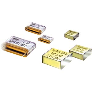 Radio interference suppression capacitors, 220nF, 300V~, RM27.5 WIMA MPX12W3220FK00MSSD