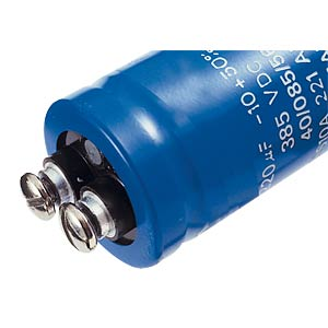 Electrolytic capacitor, 35x60 mm, 4700 µF/40 V FREI