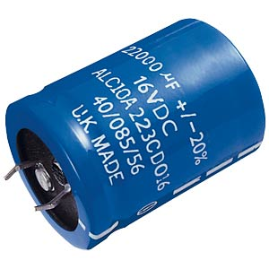 Snap-in electrolytic capacitor, 35x40 mm, 22,000 µF/16 V FREI