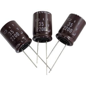 E-Cap, radial, 2200µF, 25V, RM7.5, 105°C, 20% EUROPE CHEMI-CON EKY-250ELL222MM20S