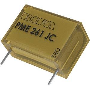 Funkentstörkondensator, 10 nF, 500 V, RM 15,0, 70°C, 10% KEMET PME261JB5100KR30