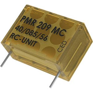 Suppression capacitor, 100nF, 250V, 85°C KEMET PMR209MC6100M047R30