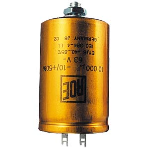 Becher-Elko, radial, 10 mF, 63 V, 105°C, 20% JB CAPACITORS