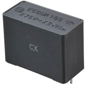 Funkentstörkondensator, X2, 1,0 µF, 275 V, RM 22,5, 110°C, 10% PANASONIC ECQUAAF105KA