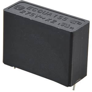 Funkentstörkondensator, X2, 1,5 µF, 275 V, RM 27,5, 110°C, 10% PANASONIC ECQUAAF155KA