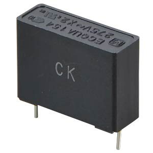 Entstörkondensator, X2, 275VAC / 10%, 0,15µF PANASONIC ECQUAAF154KA