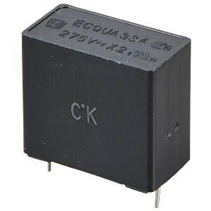 Funkentstörkondensator, X2, 330 nF, 275 V, RM 15,0, 110°C, 10% PANASONIC ECQUAAF334KA