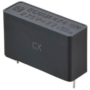 Noise capacitor, X2, 275VAC / 10%, 0.47µF PANASONIC ECQUAAF474KA