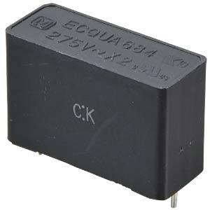 Noise capacitor, X2, 275VAC / 10%, 0.68µF PANASONIC ECQUAAF684KA