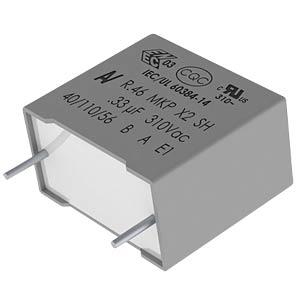 Funkentstörkondensator, X2, 68 nF, 310 V, RM 15,0, 110°C, 10% KEMET R463I26805001K
