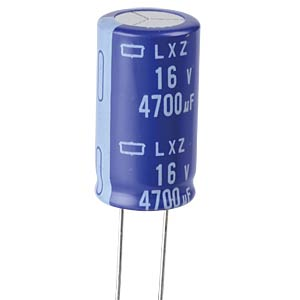 ELKO, 4700 µF, 16 V, 105 °C EUROPE CHEMI-CON ELXZ160ELL472ML30S