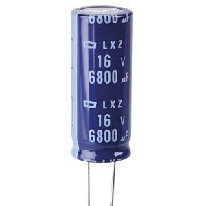 ELKO, 6800 µF, 16 V, 105 °C EUROPE CHEMI-CON ELXZ160ELL682ML40S