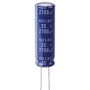 ELKO, 2700 µF, 25 V, 105 °C EUROPE CHEMI-CON ELXZ250ELL272MK40S
