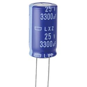 ELKO, 3300 µF, 25 V, 105 °C EUROPE CHEMI-CON ELXZ250ELL332ML30S