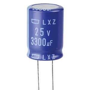 ELKO, 3300 µF, 25 V, 105 °C EUROPE CHEMI-CON ELXZ250ELL332MM25S