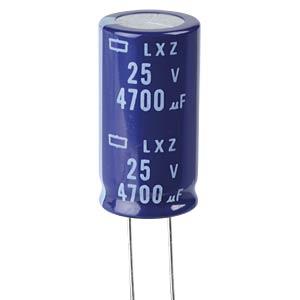 ELKO, 4700 µF, 25 V, 105 °C EUROPE CHEMI-CON ELXZ250ELL472MM35S