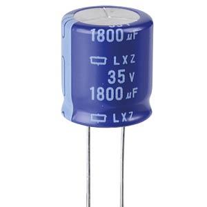 ELKO, 1800 µF, 35 V, 105 °C EUROPE CHEMI-CON ELXZ350ELL182MM20S