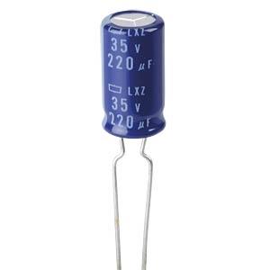Condensateur électrolytique, 220µF, 35V, 105°C EUROPE CHEMI-CON ELXZ350ETC221MH15D